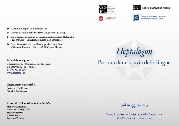 Heptalogon - Programma
