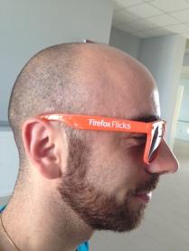 Ivano Malavolta con un gadget Firefox speciale